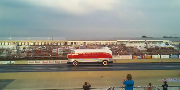 gm futurliner drag race