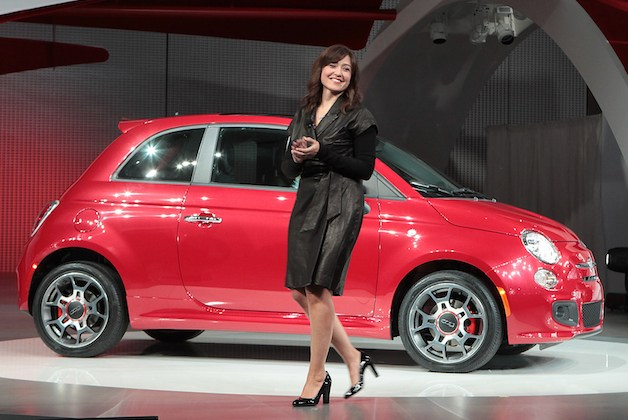 Laura Soave with Fiat 500