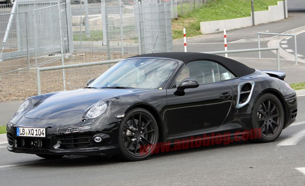 spy shot porsche 911 turbo cabriolet