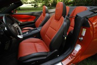 2011 Chevrolet Camaro SS Convertible front seats