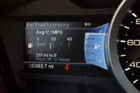 2012 Ford Explorer EcoBoost fuel economy display