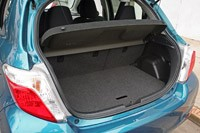 2012 Toyota Yaris rear cargo area