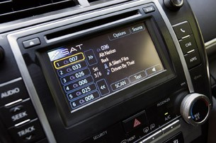 2012 Toyota Camry audio system display