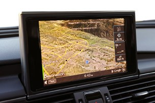 2012 Audi A7 3.0T navigation system
