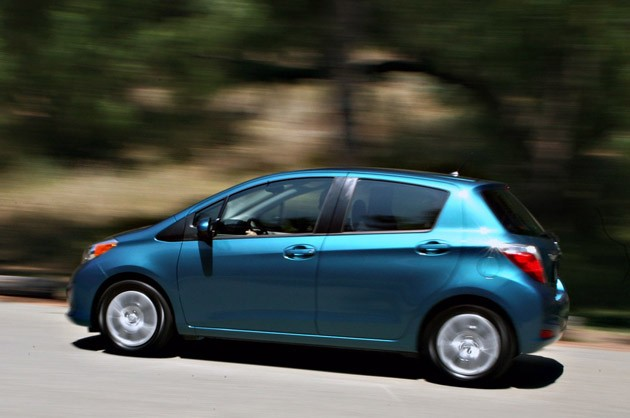 2012 Toyota Yaris driving