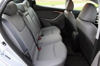 2011 Hyundai Elantra Limited rear seats
