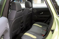 2012 Range Rover Evoque rear seats