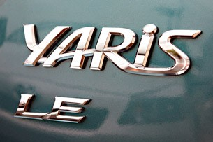 2012 Toyota Yaris badge