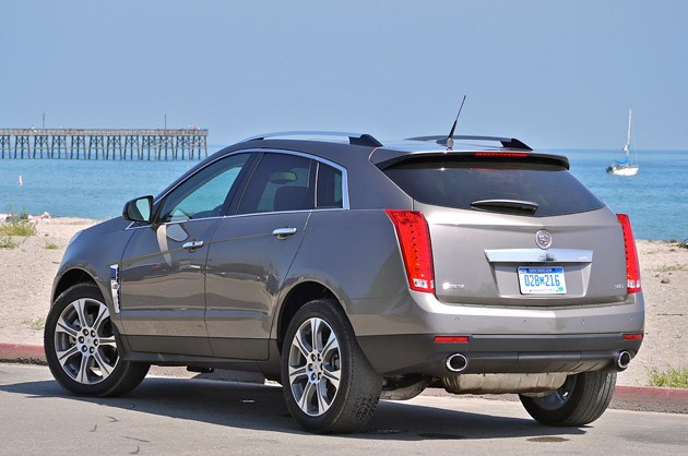 2012 Cadillac SRX rear 3/4 view