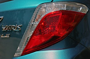 2012 Toyota Yaris taillights