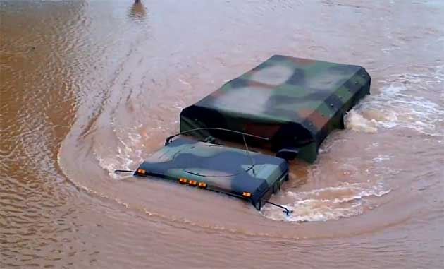 The National Guard in a New Jersey flood