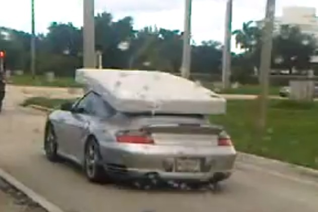mattress-moving Porsche 911 Turbo