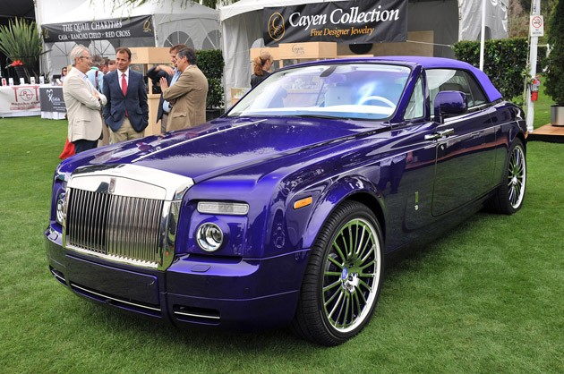 Purple Rolls-Royce Phantom