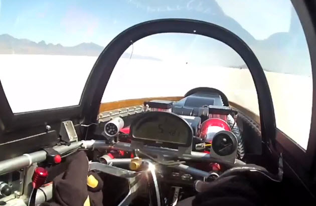 426 mile per hour run in the speed demon at bonneville