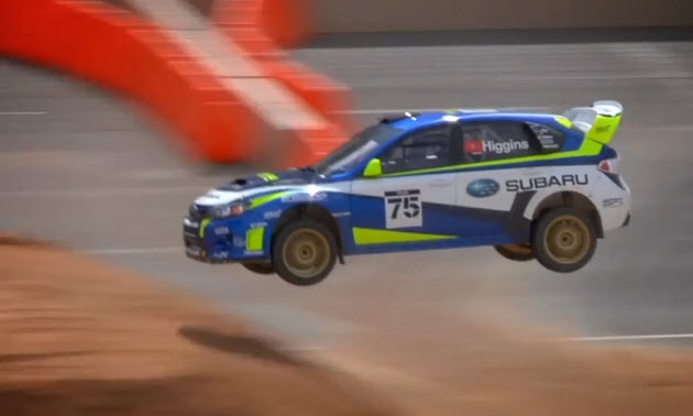 david higgins competes in rallycross