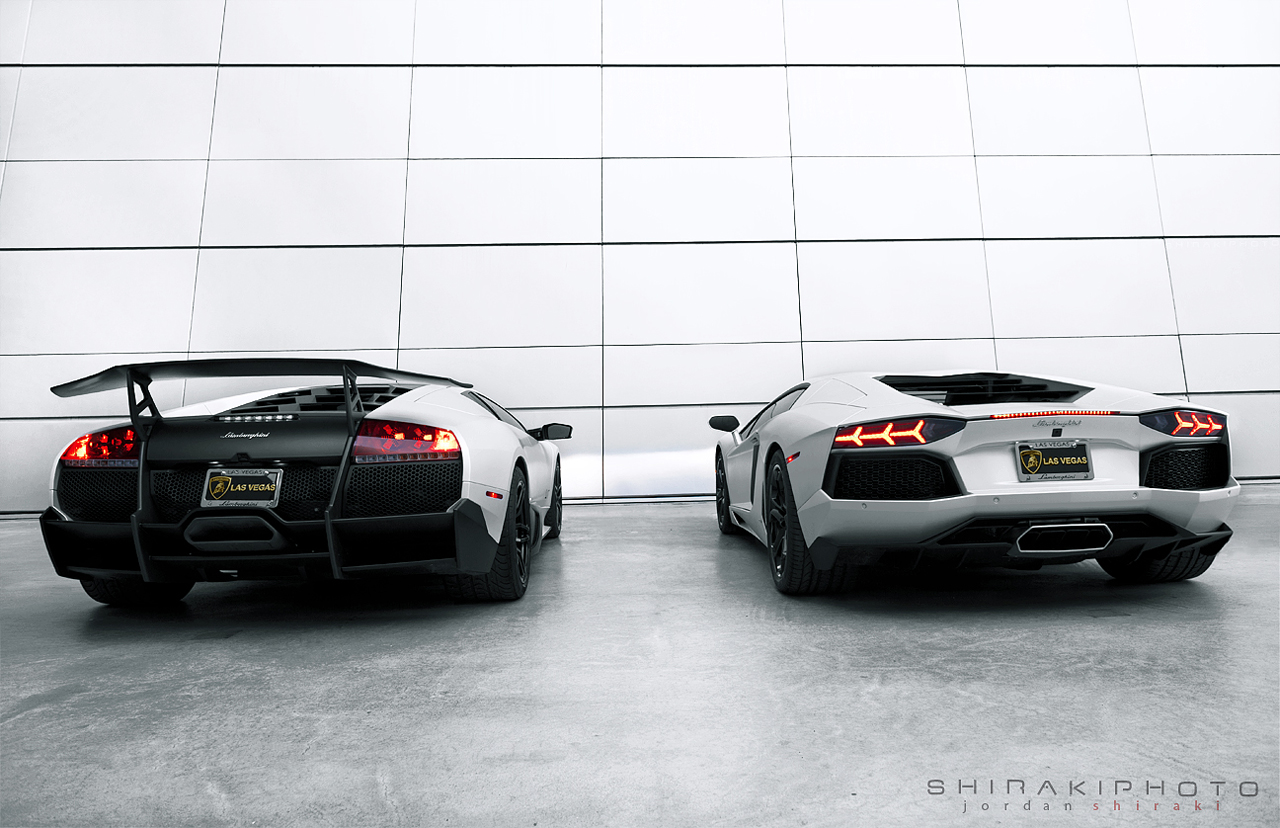 Dueling Lambos Aventador And Murc Meet For Amazing