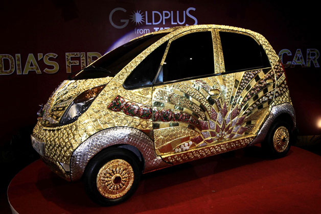 Tata eventually shows off the $4.6M Nano Gold Plus