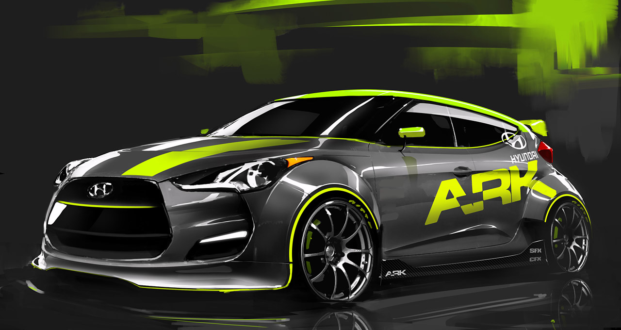 SEMA Show 2011 - Hyundai Veloster par Ark Performance - Dark-Cars Wallpapers