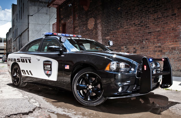 2012 Dodge Charger Pursuit police car - front three-quarter view