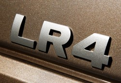 Land Rover LR4 badge