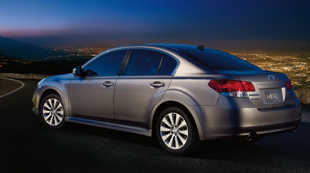 2011 Subaru Legacy rear three-quarter view