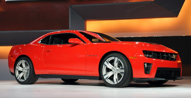 2012 Chevrolet Camaro ZL1 on stage at Chicago Auto Show