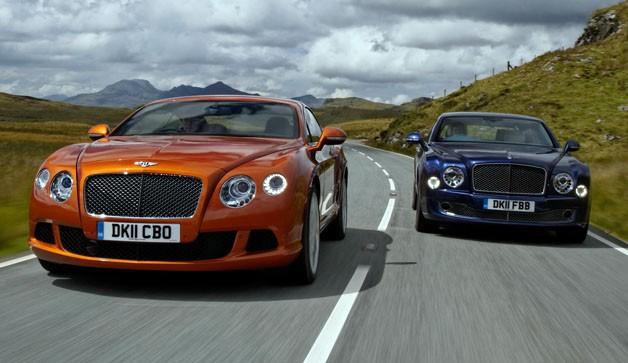 Bentley Continental GT and Mulsanne