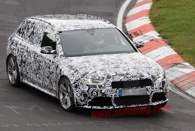 spy shot audi rs4 avant