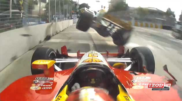 Baltimore Grand Prix Crash