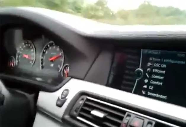 2012 BMW M5 video screen capture
