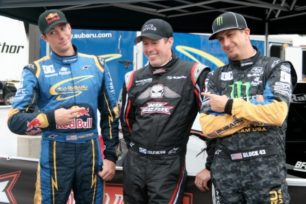 Colin McRae, Travis Pastrana and Ken Block