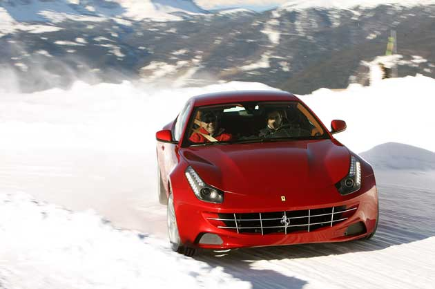 ferrari debuts new snow and ice driving school in aspen. Black Bedroom Furniture Sets. Home Design Ideas