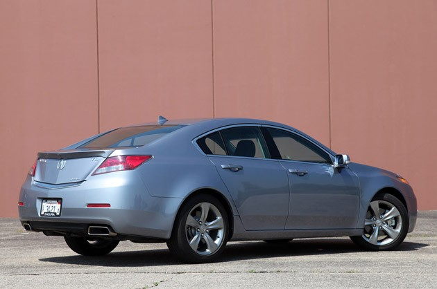 2012 Acura TL SH-AWD rear 3/4 view