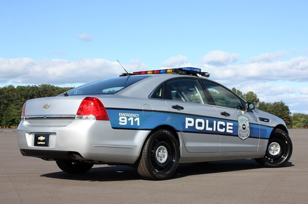 2012 Chevrolet Caprice PPV rear 3/4 view