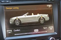 2012 Bentley Continental GTC damper setting display