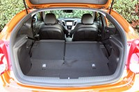 2012 Hyundai Veloster rear cargo area