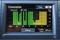 2012 Toyota Prius Plug-In consumption display