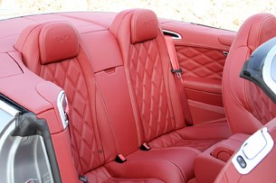 2012 Bentley Continental GTC rear seats