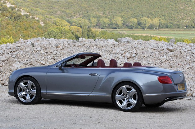 2012 Bentley Continental GTC rear 3/4 view