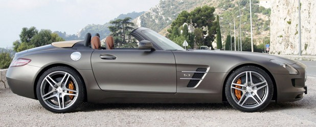 2012 Mercedes-Benz SLS AMG Roadster side view