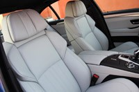2012 BMW M5 front seats