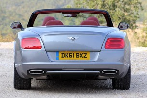 2012 Bentley Continental GTC rear view