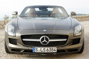 2012 Mercedes-Benz SLS AMG Roadster front view