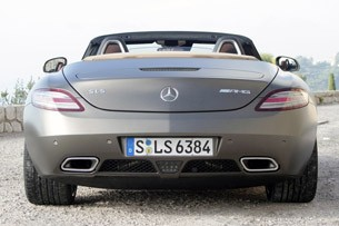 2012 Mercedes-Benz SLS AMG Roadster rear view