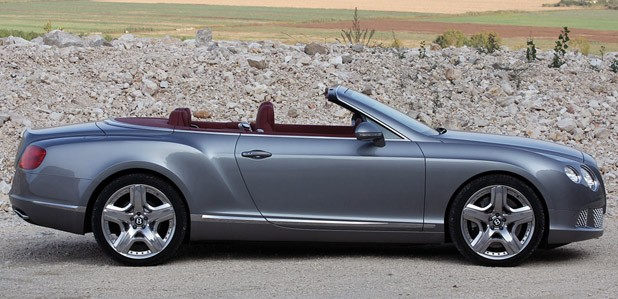 2012 Bentley Continental GTC side view