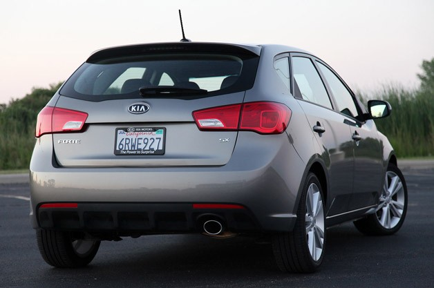 2011 Kia Forte 5-Door rear 3/4 view