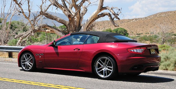 2012 Maserati GranTurismo Convertible Sport rear 3/4 view
