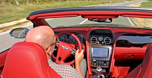 2012 Bentley Continental GTC driving