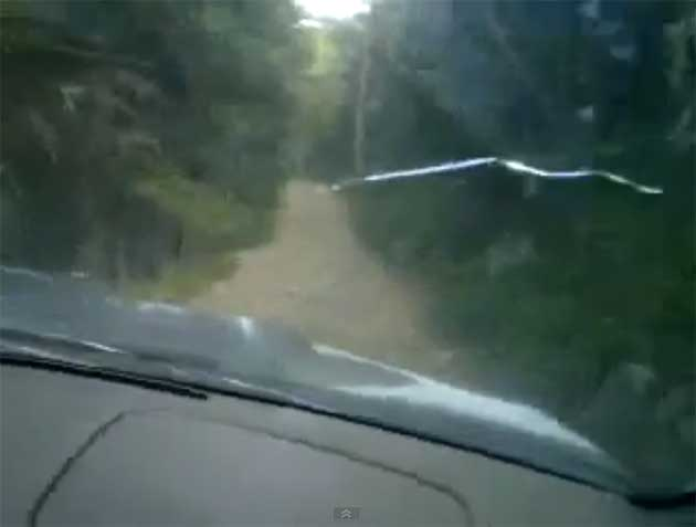 Miners Gulch Subaru in car camera screen capture