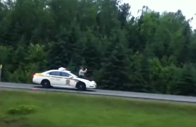 car surfing cop